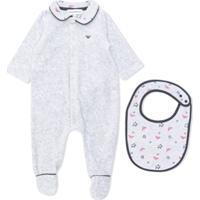 8c6a6b207 Emporio Armani Kids Pijama Com Logo - Cinza