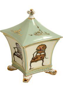 Porta-Joias De Porcelana Decorativo Chinese Chair