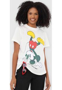Camiseta Colcci Mickey Off-White - Off White - Feminino - Algodã£O - Dafiti