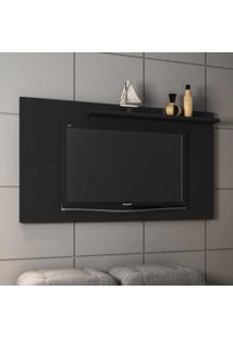 Painel Para Tv Até 50 Polegadas 1 Prateleira Chanel 2075333 Preto Fosco - Bechara Móveis