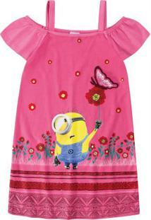 Vestido Rosa Minions® Menina Malwee Kids