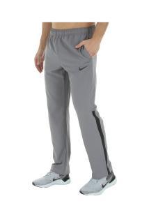 Calça Nike Dry Pant Team Woven - Masculina - Cinza/Preto