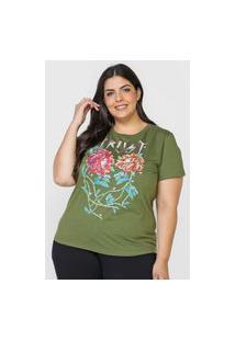 Camiseta Colcci Trust Love Verde