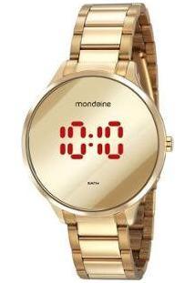 Relógio Feminino Mondaine Digital 32060Lpmvde1 - Feminino-Dourado