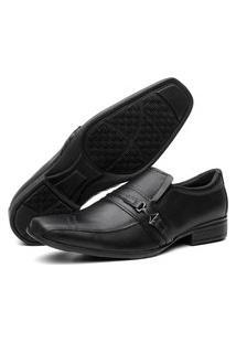 Sapato Social Masculino Em Couro Lorenzzo Lopez Preto