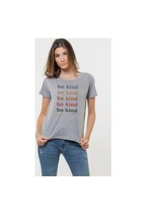 Camiseta Jay Jay Basica Be Kind Cinza Mescla Dtg