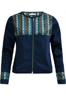 Jaqueta De Sarja Azul