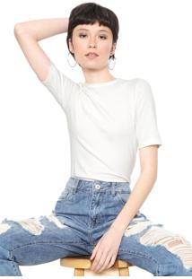 Camiseta Colcci Básica Off-White