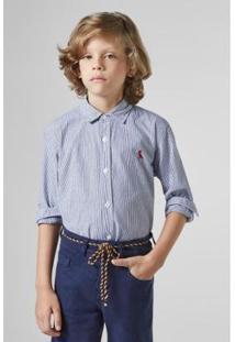 Camisa Listrada Reserva Mini Infantil Masculina - Masculino-Marinho
