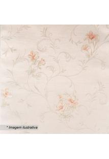 Papel De Parede Floral- Rosa Claro & Bege- 1000X53Cmevolux