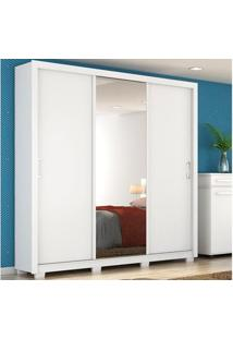 Guarda-Roupa De Casal Com Pés Residence Branco - Lc Móveis