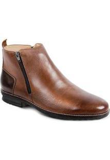 Bota Dress Boot Masculina Sandro Moscoloni Tiger Marrom Whisky