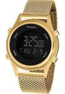 Relógio Champion Digital Ch48082H Feminino - Feminino-Dourado