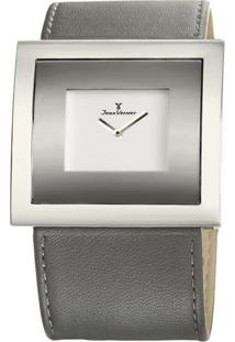 Relógio Analógico Jv02020- Cinza & Branco- Jean Vernjean Vernier