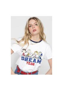 Camiseta Snoopy By Fiveblu Dream Team Branca