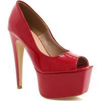 02dae02725 Betisa. Sapato Zariff Peep Toe Shoes Salto Fino