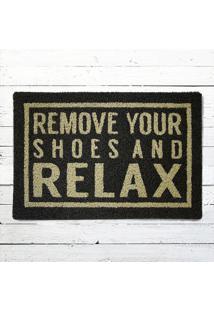 Capacho - Remove Your Shoes Preto