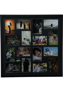 Painel Collection Para 16 Fotos 10X15 - Woodart - Preto