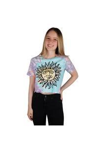 Camiseta Croped Child Feminina Santeria Multicolorido