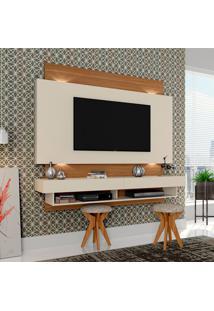 Painel Para Tv Suspenso Tb115L Com Led Off White/Freijo - Dalla Costa