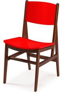 Cadeira Dumon Cor Cacau Com Vermelho - 30785 Sun House