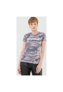 Camiseta Aeropostale Militar Bordada Cinza