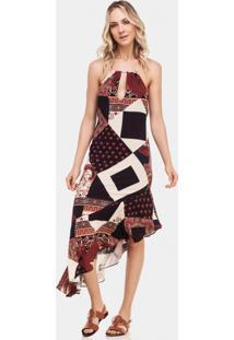 Vestido Mídi Barra Assimétrica Agadir - Lez A Lez