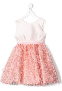 La Stupenderia Vestido Com Detalhe De Franjas - Rosa