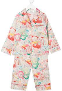 Bonpoint Conjunto De Pijama Com Estampa - Branco