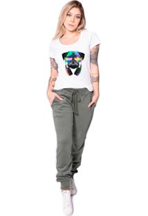 Camiseta Longline Kruger'S Concept Pug Dj Branca - Kanui