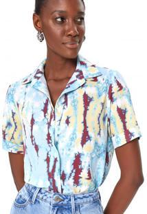 Amaro Feminino Camisa Manga Curta Com Elastano, Colorful Tie Dye