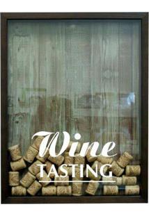 Quadro Porta Rolhas De Vinho Wine Tasting Betume