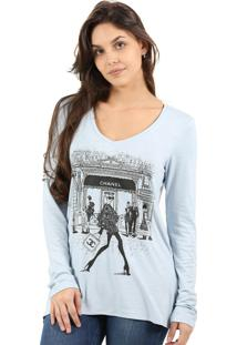 T-Shirt Its&Co Shop Azul Medio