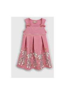 Vestido Milon Infantil Bailarina Rosa