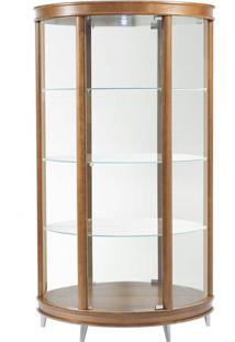 Cristaleira Half Moon Pes Aluminio Corpo Nogal 99 Cm (Larg) - 3935 - Sun House