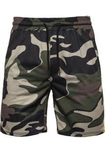 Bermuda Masculina Camuflagem - Verde Exército Xgg