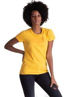 Camiseta Levis Logo Batwing Feminina - Feminino-Amarelo