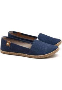 Alpargata Moleca Jeans Azul