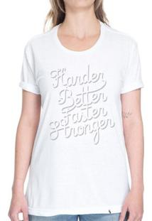 Harder, Better, Faster, Stronger - Camiseta Basicona Unissex