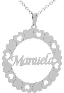 Gargantilha Horus Import Mandala Manuela Banho Prata 1000 - 2060161 - Prata - Feminino - Dafiti