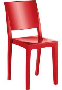 Cadeira De Plástico Hydra Vermelha