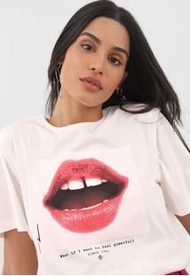 Camiseta Forum Powerful Off-White - Off White - Feminino - Algodã£O - Dafiti