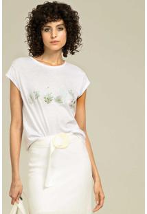 T-Shirt Com Bordado Branco - Lez A Lez