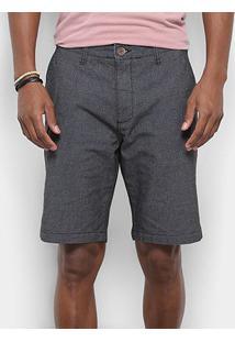 Bermuda Redley Smart Pocket Color Masculina - Masculino-Preto