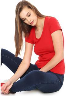 Camiseta Malwee Básica Vermelha