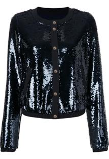 Emporio Armani Sequin Embroidered Jacket - Azul