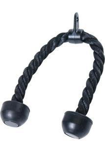 Puxador Triceps Corda Importado Crossover Preto - Liveup Liveup