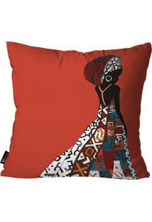 Capa Para Almofada Mdecor Africana Vermelho