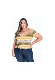 T-Shirt Plus Size Estampada