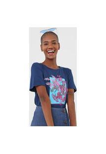 Camiseta Sommer Estampada Azul-Marinho